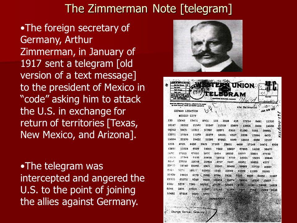 The Zimmerman Note [telegram]